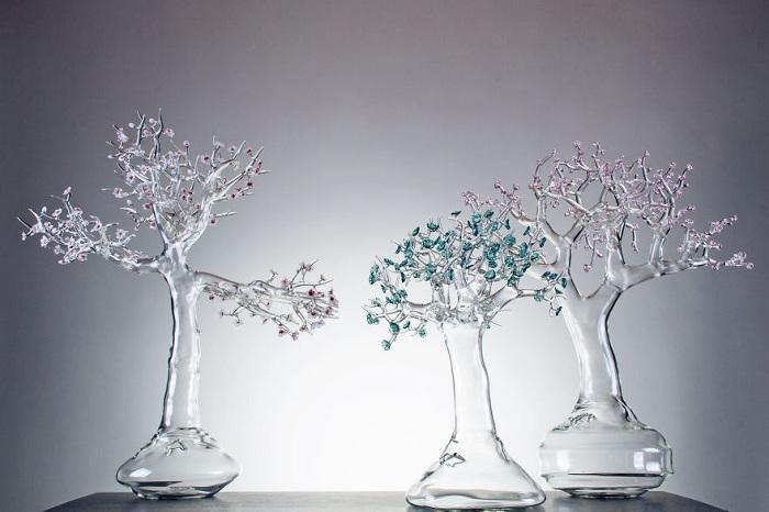 Работа стеклодува Simone Crestani.
