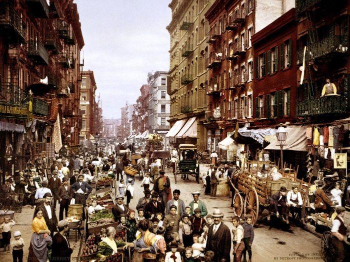 Итальянские эмигранты в Нью-Йорке, 1900 год. | Фото: jeodot.com.