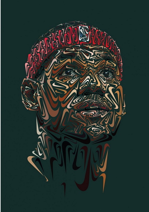 Портрет американского баскетболиста Джеймса Леброна (James Lebron).