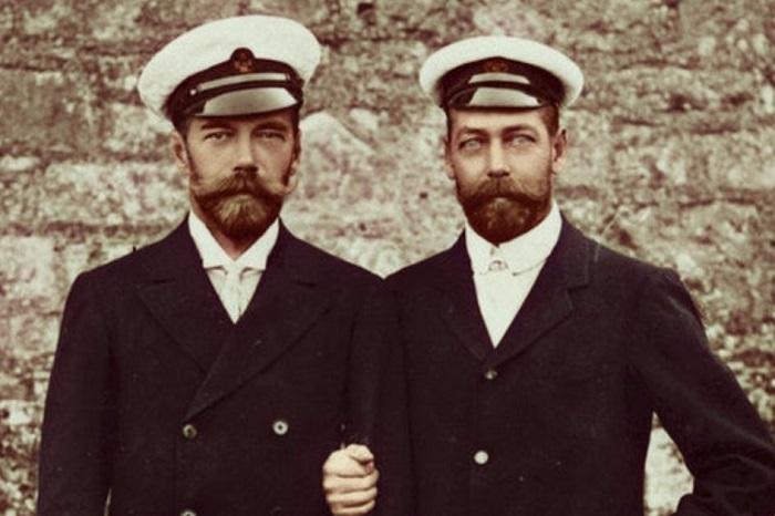 Кузены Николай II и Георг V. | Фото: itd2.mycdn.me.
