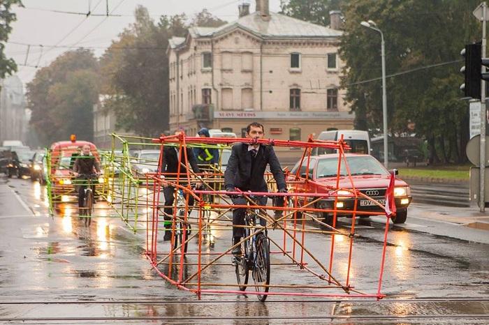 В Латвии прошла акция «День без автомобиля».