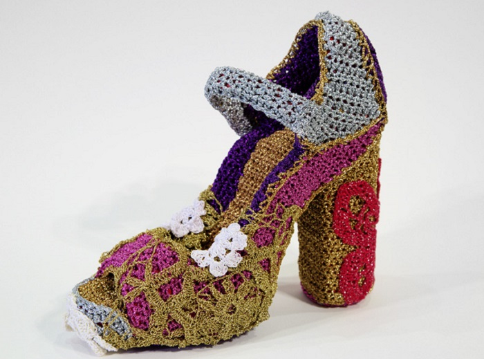 Вязаные туфли Агаты Олек.