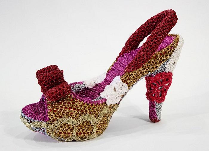 Вязаная обувь от Нью-Йоркской мастерицы.