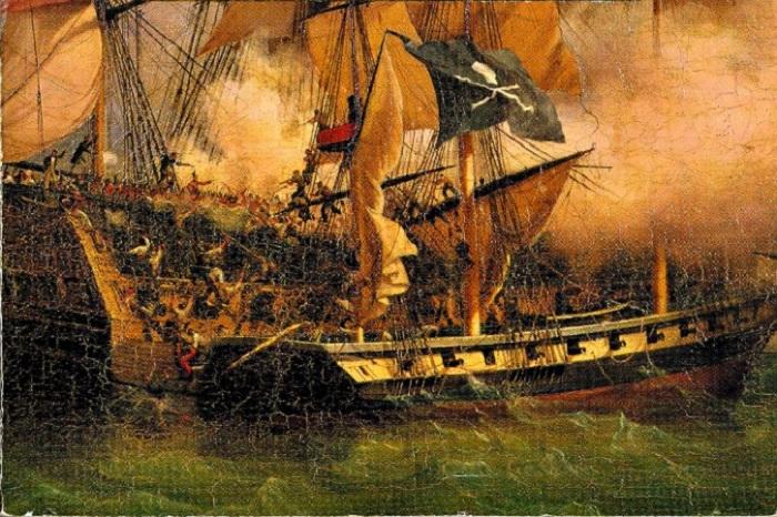 Пиратский корабль, Ambroise-Louis Garneray, около 1800 г. | Фото: blogs.porti.ru.
