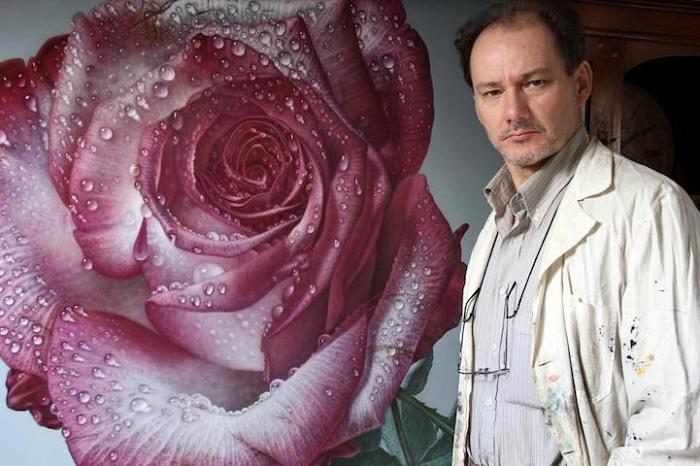 Розы на рассвете: гиперреалистичная живопись