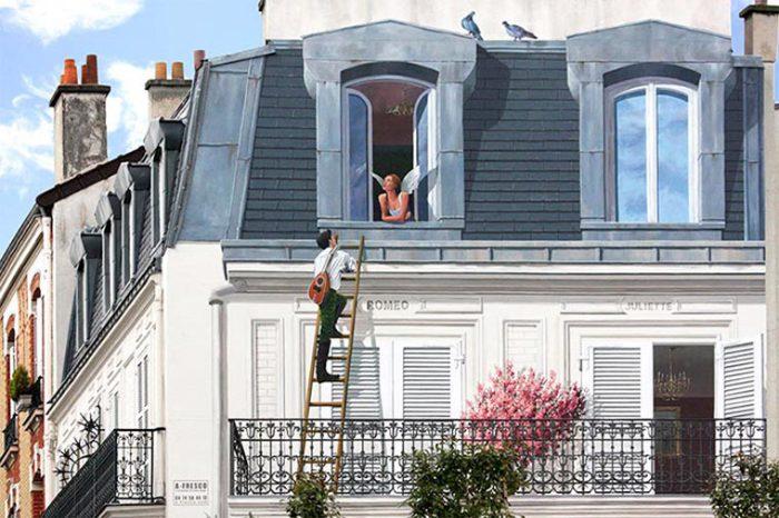 Стена, расписанная как продолжение балкона. | Фото: ufunk.net.