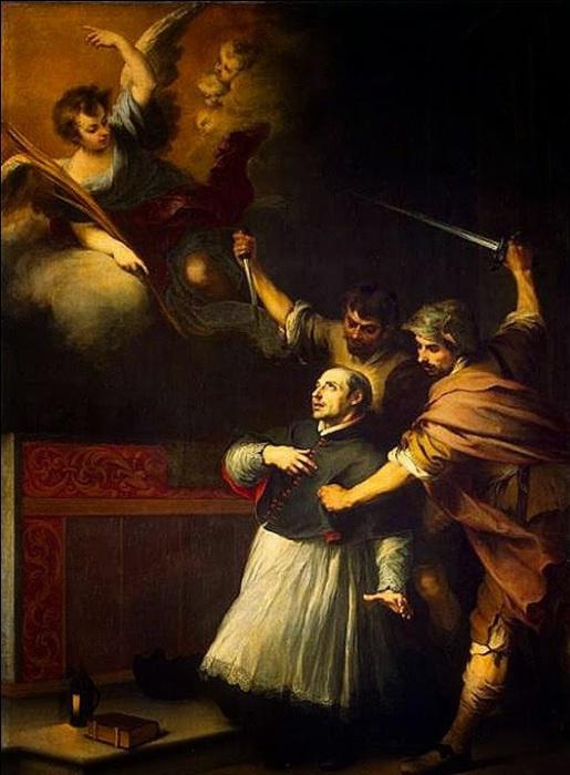 Смерть инквизитора Педро де Арбуэса. Бартоломе Эстебан Мурильо, ок. 1664 года. | Фото: lh3.ggpht.com.