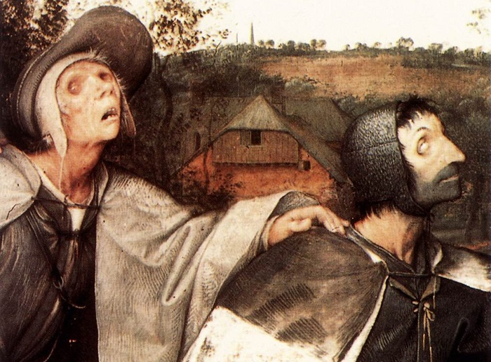 Слепые (Притча о слепых). Фрагмент. | Фото: ru.artsdot.com.