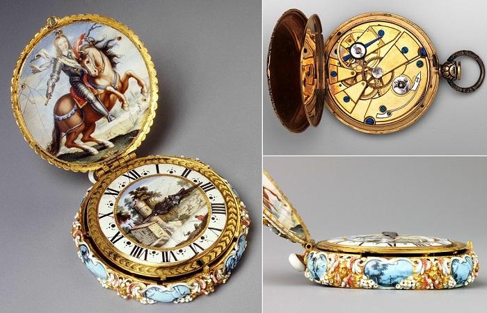 Прекрасные карманные часы.