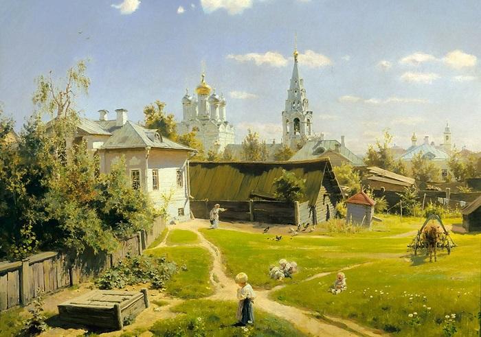 Московский дворик. В. Д. Поленов, 1878 год. | Фото: cdn.gdz4you.com.