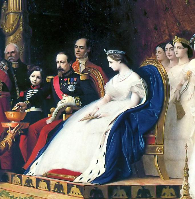 Эжен Наполеон с родителями в 1861 году. | Фото: fiveminutehistory.com.