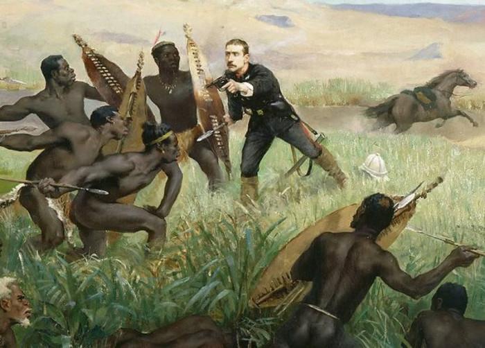 Гибель наследника французского престола во время англо-зулусской войны, 1879 год. Поль Жозеф Жамен, 1882 год. | Фото: en.wikipedia.org.