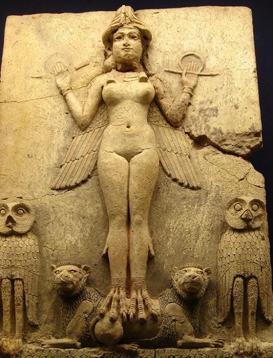 Иштар - богиня плодородия, плотской любви и войны. | Фото: upload.wikimedia.org.