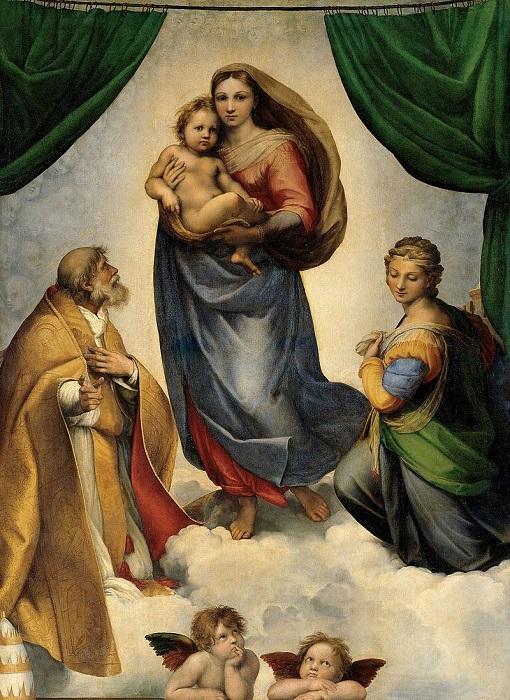 Сикстинская мадонна. Рафаэль, ок. 1513-1514 гг. | Фото: thegreatcoursesdaily.com.