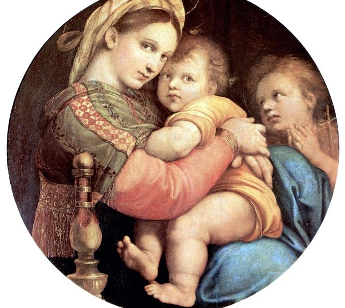 Мадонна в кресле. Рафаэль, ок. 1513-1514 гг. | Фото: ru.wikipedia.org.