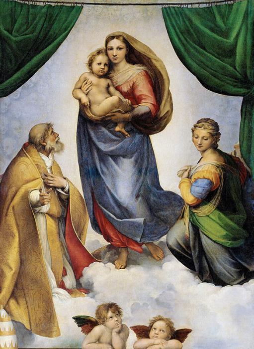 Сикстинская мадонна. Рафаэль Санти, 1513-1514 гг. | Фото: arttrans.com.ua.