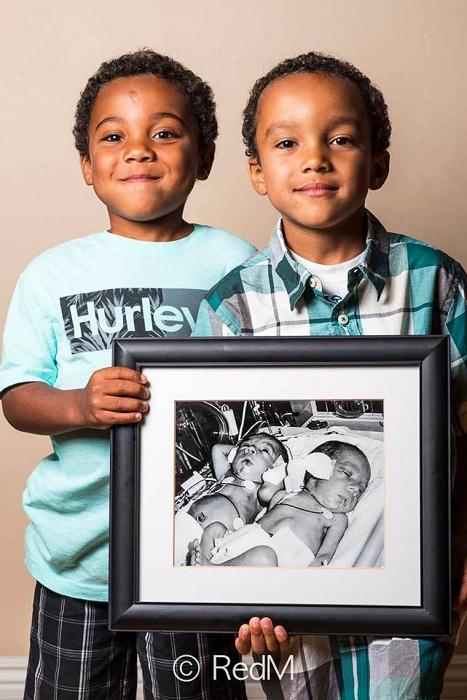 Ной и Натан, родились на 32-й неделе.