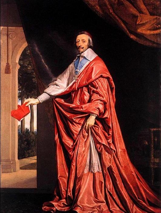 Портрет кардинала Ришелье. Филипп де Шампень, 1640 год. | Фото: storyfiles.blogspot.ru.