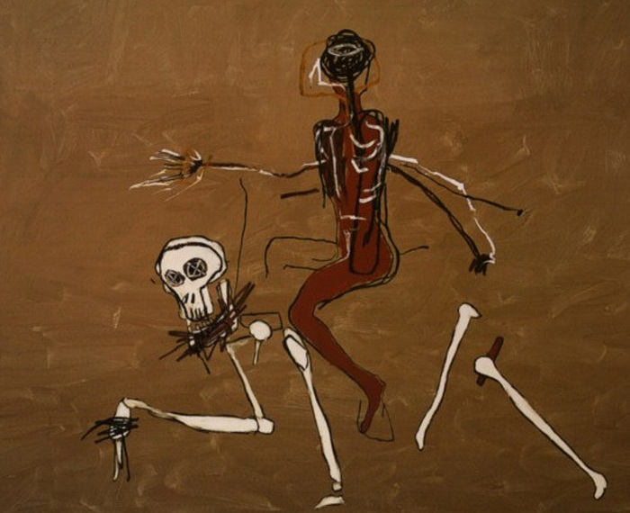 Верхом на смерти. Жан-Мишель Баския, 1988 г. | Фото: f4.bcbits.com.