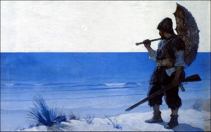 «Русским Робинзоном» называют Сергея Лисицына, высаженного на пустынный берег в 1847 году. | Фото: mbird.com.