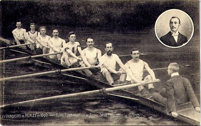 Команда гребцов из Нидерландов - победители 1909 года. | Фото: fiveminutehistory.com.