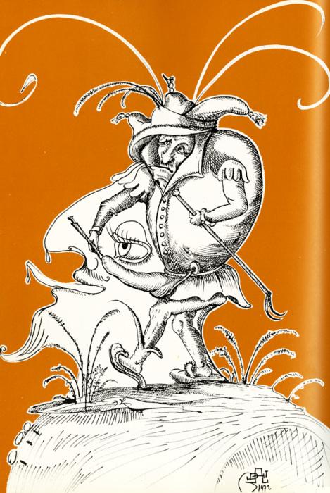 Иллюстрация Сальвадора Дали с эротическим подтекстом.