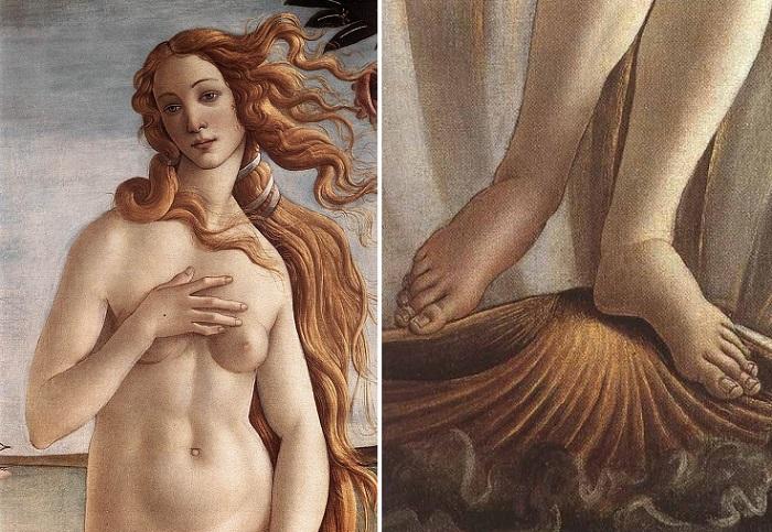 Изъяны картины Сандро Боттичелли «Рождение Венеры».