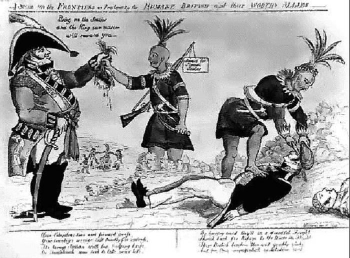 Европейцы щедро платили индейцам за снятые скальпы. | Фото: images.wikia.com.