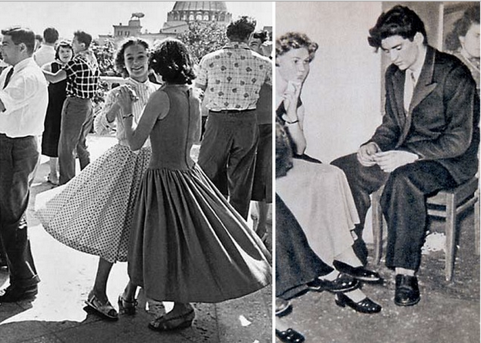 Стиляги - феномен среди советской молодежи.