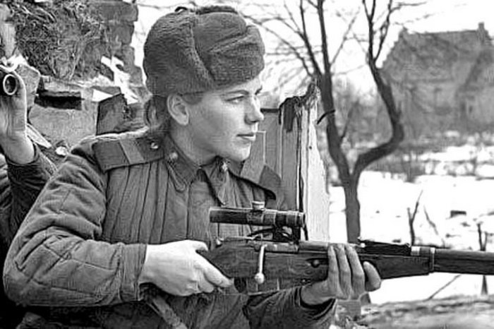Советский снайпер Роза Шанина. | Фото: i.ucrazy.ru.