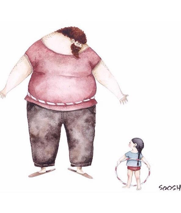 Трогательный рисунок от Снежаны Суш.