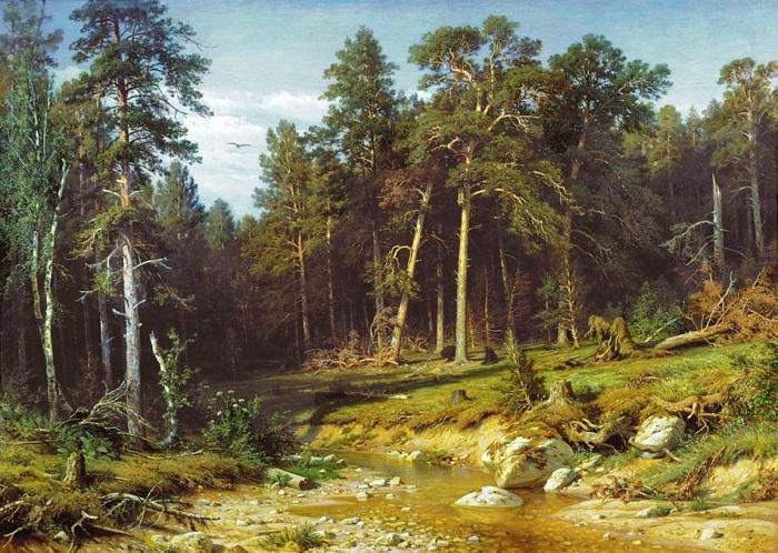 Сосновый бор. И. Шишкин. 1883. | Фото: allpainters.ru.