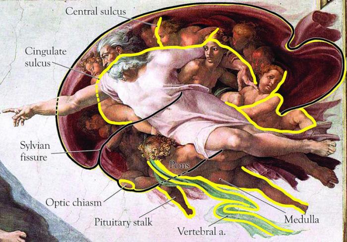 В изображении Бога можно увидеть очертания человеческого мозга. | Фото: ic.pics.livejournal.com.
