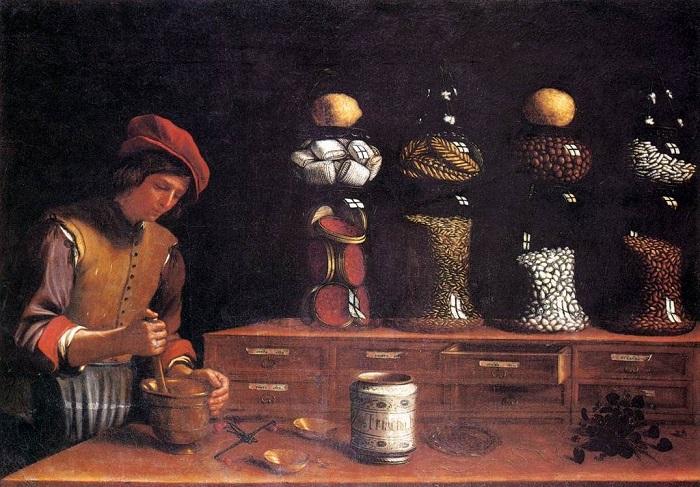 Лавка пряностей. Паоло Барбиери, 1637. | Фото: vegafood.com.ua.
