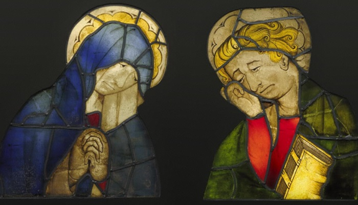 Богоматерь и святой Иоанн. Германия, ок. 1420 года. | Фото: khanacademy.org.