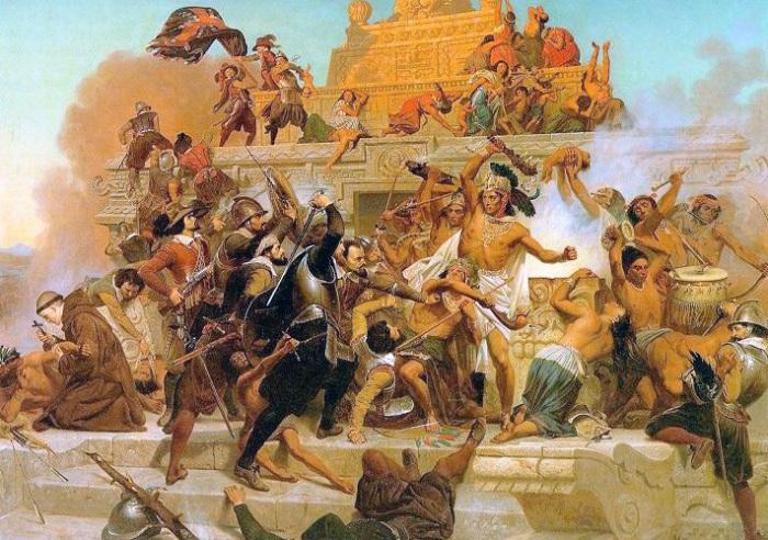 Испанцы разрушали храмы индейцев. | Фото: latinamericanstudies.org.