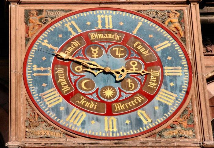 Часть механизма Страсбургских часов. | Фото: forum.watch.ru.