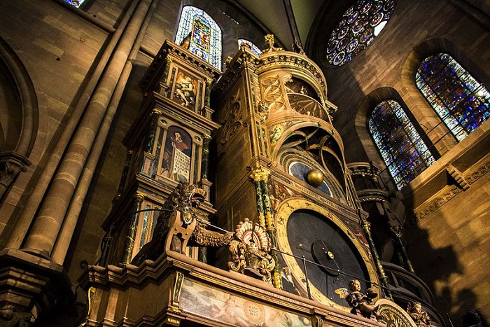 Астрономические часы в соборе в Страсбурге (Франция). | Фото: commons.wikimedia.org.