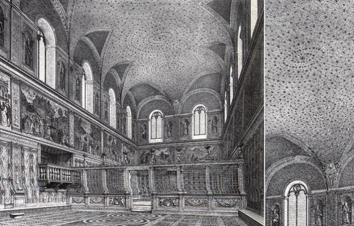 Первоначальный вид потолка Сикстинской капеллы.   Фото: hexapolis.com.