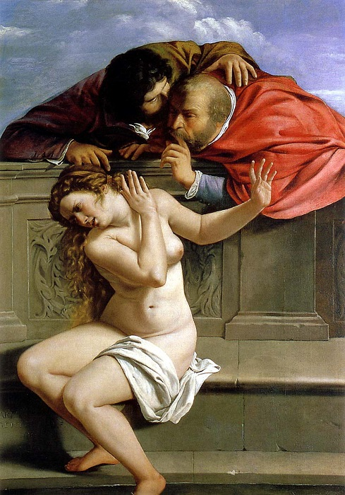 Сусанна и старцы. А. Джентилески, 1610 год. | Фото: upload.wikimedia.org.