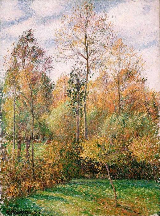 Осенние тополя. Камиль Писсарро. 1893 год. | Фото: fiveminutehistory.com.