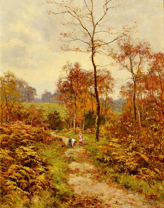 Лесная тропа. Осень. Э. В. Вейт, 1918 год. | Фото: fiveminutehistory.com.