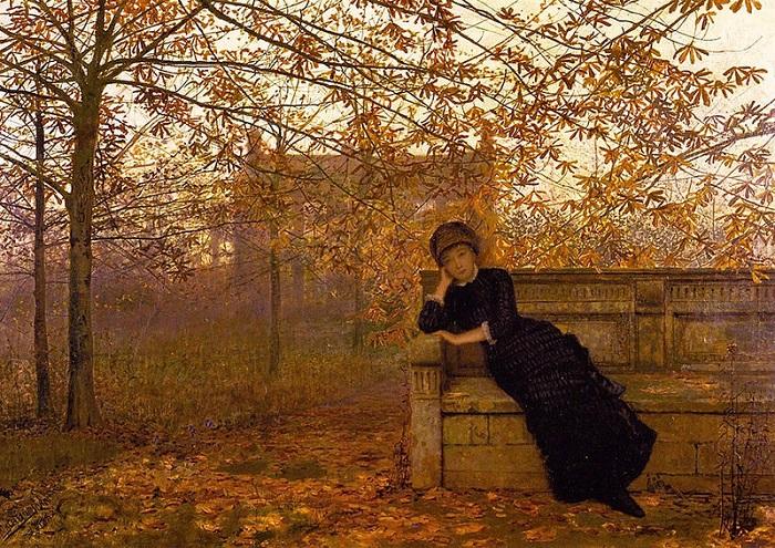 Осенние сожаления. Д. Э. Гримшоу, 1882 год. | Фото: fiveminutehistory.com.