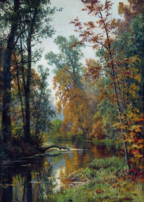 Осень в Павловске. И. И. Шишкин, 1888 год. | Фото: fiveminutehistory.com.