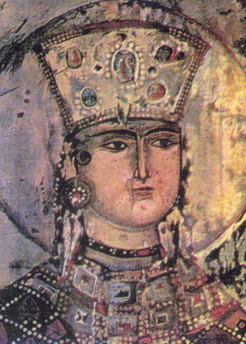 Царица Тамара. Фреска из монастыря Вардзиа. | Фото: ru.wikipedia.org.