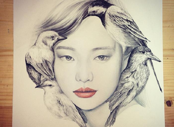 Рисунок корейской художницы okArt.