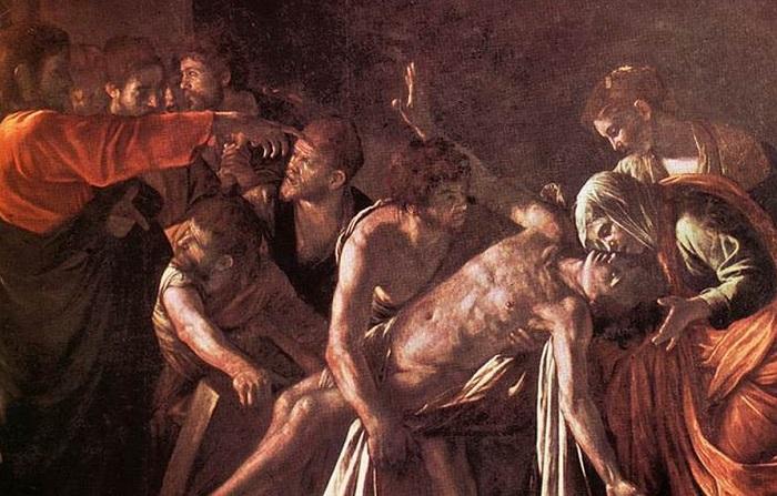 Воскрешение Лазаря. Караваджо, 1609 год.