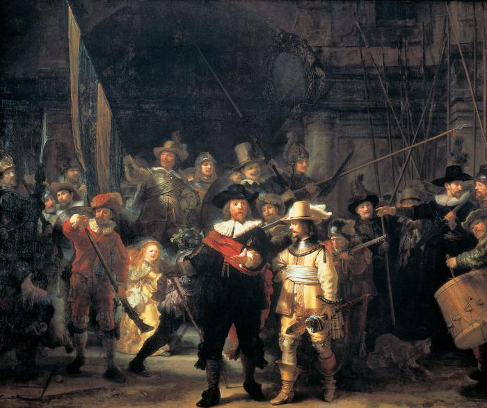 Ночной дозор. Рембрандт, 1642 год. | Фото: ru.wikipedia.org.