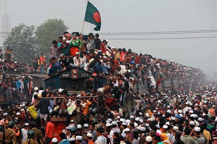 Час пик в Бангладеше.