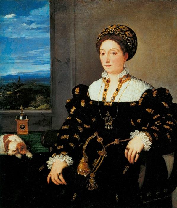 Элеонора Гонзага. Тициан, 1538 год. | Фото: ru.wikipedia.org.